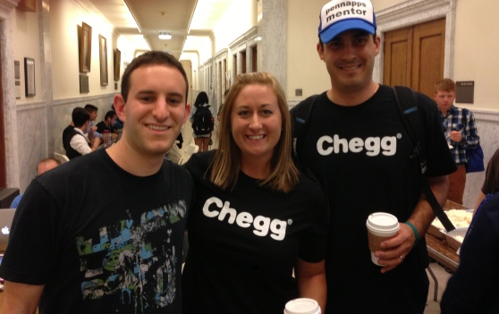 Chegg intern Matt being discovered in the hallway by Director of Talent Acquisition, Amy and Engineering Director, Jason